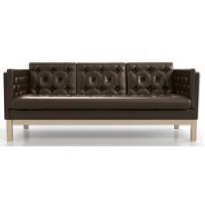 Диван Айверс Б Eco-leather Сосна Dark Brown AnderSon