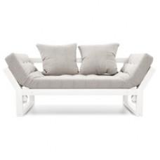 Кушетка Амбер Textile Белая эмаль Grey AnderSon