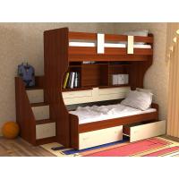 Кровать двухъярусная детская  Дуэт-4  , яблоня/ваниль