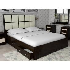 Кровать двуспальная Волна - 4 с ящиками, спальное место 160*200