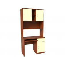 Компьютерный стол к набору мебели  Уголок школьника  (ЛДСП), яблоня/ваниль