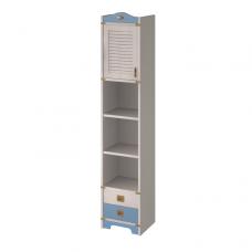 Колумбус C2252 1-дверный шкаф-пенал, 2 ящика