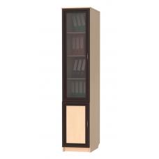 Книжный шкаф 203, цвет дуб молочный+венге