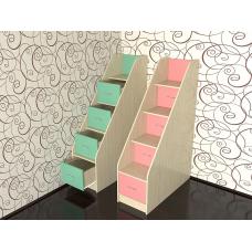 Лестница с ящиками для детских комплексов.