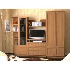 Мебельная стенка  Лагуна, цвет ольха