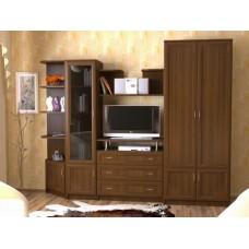 Мебельная стенка  Лагуна, цвет орех