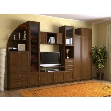 Мебельная стенка  Риф, цвет орех