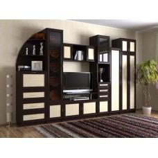 Мебельная стенка  Риф, цвет венге/дуб молочный