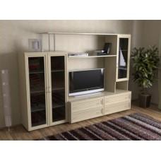 Мебельная стенка  Соната-2, цвет дуб молочный