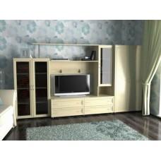 Мебельная стенка  Соната-2  с шкафом, цвет дуб молочный