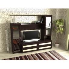Мебельная стенка  Соната-1  без  шкафа, цвет венге/дуб молочный