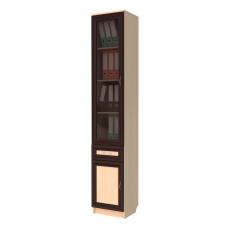 Книжный шкаф 206, цвет дуб молочный+венге