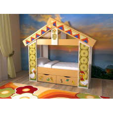 Кровать детская Теремок с ящиками