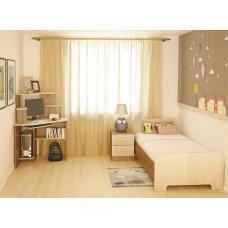 Кровать детская №2, стол компьютерный КС-03, тумба прикроватная с ящиками