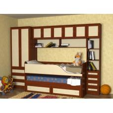 Мебель для детской комнаты с кроватью Дуэт-2, яблоня/ваниль