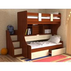 Кровать двухъярусная Дуэт- 4 яблоня/ваниль
