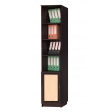 Книжный шкаф 103, цвет венге+дуб молочный