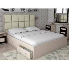 Кровать двуспальная Волна - 4 с ящиками, спальное место 140*200