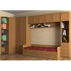 Мебель для детской комнаты с кроватью-1