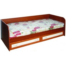 Кровать односпальная с ящиками рамка МДФ, яблоня/ваниль