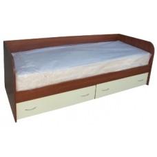 Кровать односпальная с ящиками 800х1900, яблоня/ваниль