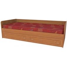 Кровать односпальная с ящиками рамка МДФ, ольха