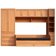 Мебель для детской комнаты с кроватью, ольха
