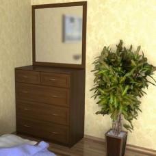 Комод для белья №2 орех c зеркалом