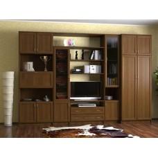 Мебельная стенка  Коралл, цвет орех