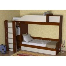 Кровать двухъярусная детская   Дуэт-3  , яблоня/ваниль
