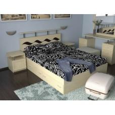 Кровать двуспальная  Волна-3 с ящиками спальное место 140*200