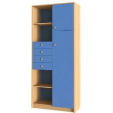 Секретер к набору мебели  Уголок школьника  (ЛДСП), бук/небесно-голубой