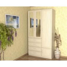 Шкаф-комод для одежды 1200, дуб молочный