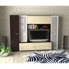 Мебельная стенка  Двина  со шкафом однодверным, цвет венге/дуб молочный